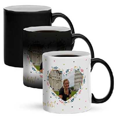 Mug magique personnalisé avec photo - Personnalisez ce mug magique original avec votre photo préférée pour surprendre quelqu'un