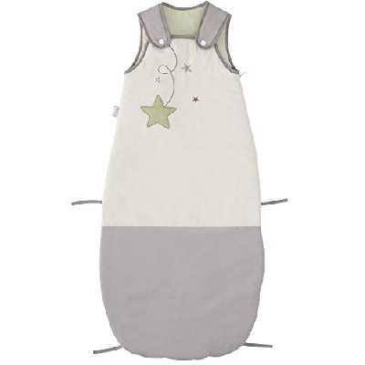 P'tit Basile - Grande Gigoteuse Bébé réglable - Coton Certifié Bio et Oeko-TEX® - Turbulette brodée Pluie d'étoiles Mixte 6-36 Mois, de 65 à 105 cm - Douillette Toutes Saisons