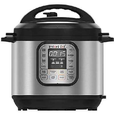 Instant Pot IP-DUO60, Autocuiseur programmable 7 en 1, 5.7 l/1000 W 220 V, technologie de 3ème génération, bol de cuisson et enveloppe extérieure en acier inoxydable - touches en anglais