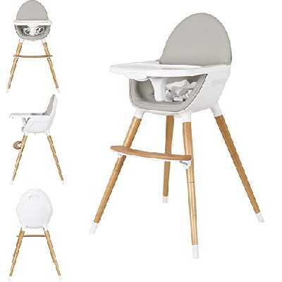 Star Ibaby Duo Chaise haute pour bébé. Convertible en Chaise Plateau amovible Mousse siège ultra confortable.