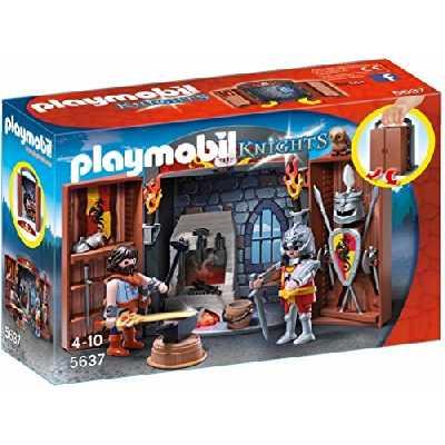 Playmobil 5637 Jeu de Construction - Coffre Chevalier et Forgeron