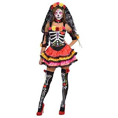 amscan- Deguisement, 844569-55, Multicolor, Voir visuel, Taille: 36-20 Euro. Poitrine: 86cm. Hanche: 92cm