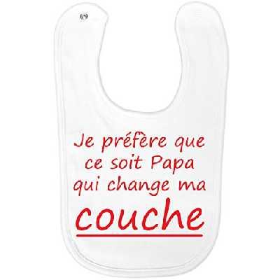 Bavoir rigolo Papa Couche