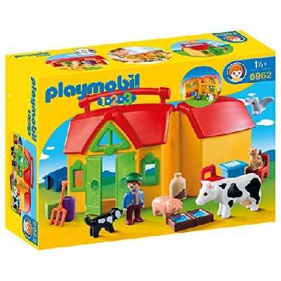 Playmobil 1.2.3. - 6962 - Ferme transportable avec animaux