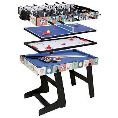 hlc-Table Multi Jeux 4 en 1 Pliante-Billard/Babyfoot/Hockey/Tennis de Table-121.5 * 61 * 81.3cm