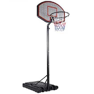 Deuba Panier de Basket sur Pied Mobile avec Roues - Hauteur réglable de 205 à. 310 cm