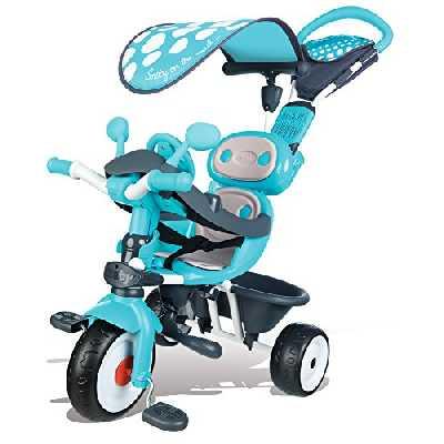 Smoby - 740601 - Baby Driver Confort - Tricycle Evolutif avec Roues Silencieuses - Dispositif Roue Libre et Verrouillage Guidon - Bleu