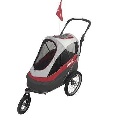 Innopet IPS-056/AT Sporty Dog Trailer Deluxe Poussette/Remorque Vélo pour Chien Rouge/Gris