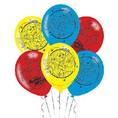 Amscan International 990149928cm DC Super Hero Girls 4Faces en Latex Ballon