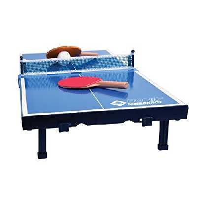 Donic-Schildkröt 2287916 Set de Tennis de Table Mini Mixte Enfant, Noir/Bleu/Blanc, 370 x 358 x 60 cm