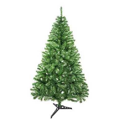 Arbre de Noël Artificiel Sapin de Noel avec Support 120-240cm (Vert Clair, 120cm 184Tips)