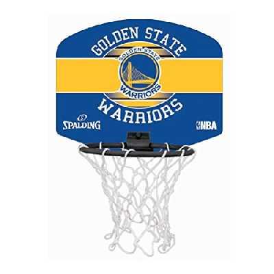 SPALDING - NBA MINIBOARD GOLDEN STATE (77-661Z) - Mini Panier Basket - Logo Officiel NBA - Mini Ballon Inclus - multicolore