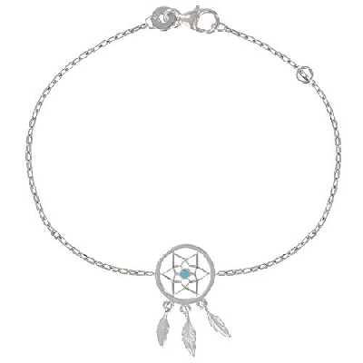 Les Poulettes Bijoux - Bracelet Argent Rhodié Attrape Rêve