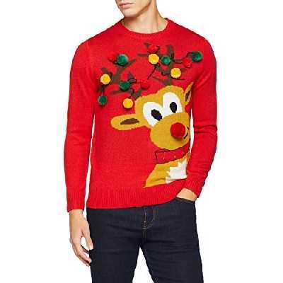 [Medium] The Christmas Workshop Ruldolf the Reindeer Jumper, Red, Medium