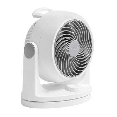 Iris Ohyama, Ventilateur Silencieux de Bureau avec Oscillation - Woozoo - HD18, Plastique, Blanc, 34 W, 23 m², 29 x 19 x 31 cm