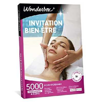 Wonderbox - Coffret cadeau - INVITATION AU BIEN ETRE – 5000 soins du visage, gommage aux agrumes, beautés des mains, accès au spa pour 1 personne