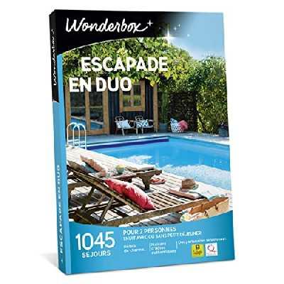 Wonderbox – Coffret cadeau duo - ESCAPADE EN DUO – 1045 séjours d'une nuit en hôtels de charme, maisons d'hôtes authentiques pour 2 personnes