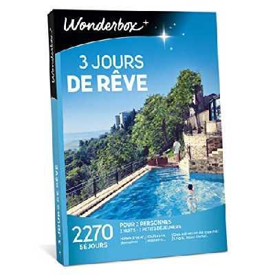 Wonderbox - Coffret cadeau - 3 JOURS DE RÊVE - 2270 Séjours dépaysants en hôtels 3* et 4* étoiles, manoirs, châteaux, ferme rénovée, tipis en France ou en Europe