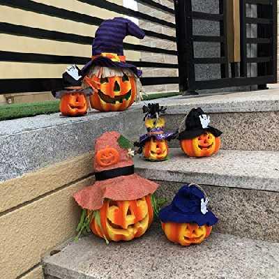 JOYIN Lot de 6 décorations d'Halloween en mousse citrouille décoratives