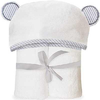 Serviette pour bébé avec capuche en bambou bio - Serviettes de bain douces avec capuche et oreilles pour bébés, Tout-petits - Hypoallergénique, Grande serviette. Cadeau idéal pour une naissance