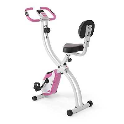 Ultrasport - F-Bike 200B - Vélo d'appartement avec dossier, vélo fitness, rose
