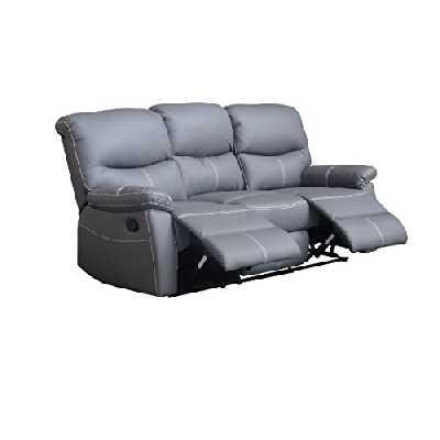 Mobilier Deco Canapé 3 Places Relax Gris Dina