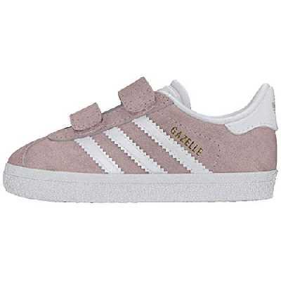 adidas Gazelle CF I, Sneakers Basses Garçon Mixte Enfant, Multicolore (Ice Pink F17/Ftwr White/FTWR White Ah2229), 21 EU