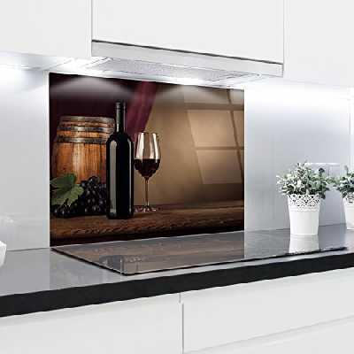 Crédence en verre trempé résistant à la chaleur renforcé décoratifs–90x 65cm–4mm d'épaisseur–Parfait Derrière à gaz, EN CÉRAMIQUE et à induction–Facile à nettoyer et à suspendre