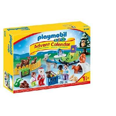 Playmobil - Calendrier Avent 1.2.3 'Père Noël Animaux Forêt - 9391
