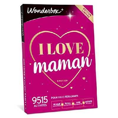 WONDERBOX - Cadeau fête des mères - I LOVE MAMAN - 9 515 activités: séjour, repas, soin de bien-être, activité de loisir