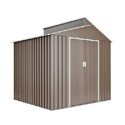 Hoggar Abri de Jardin en métal Breda 4.25 m2 - Garantie 10 Ans - 220x193x214cm