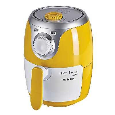 Ariete Airy Fryer Mini Friteuse à air sans huile, 400gr de frites, 1000W, 2litres, plastique, jaune