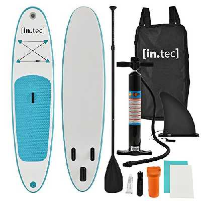 in.tec] Stand Up Paddle Board Gonflable PVC Aluminium 305x71x10cm Turquoise