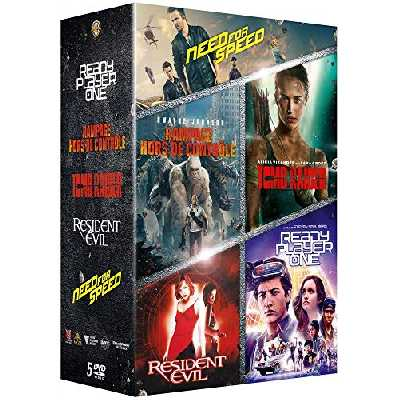 Coffret Films issus de Jeux Vidéo : Rampage-Hors de contrôle + Tomb Raider + Ready Player One + Resident Evil + Need for Speed
