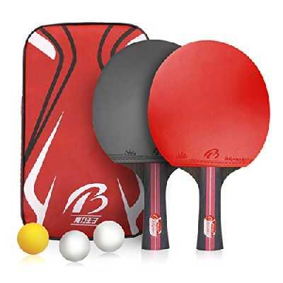 Weeygo Set de Tennis de Table Mixte Adulte Rouge Taille S