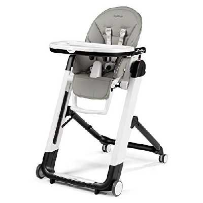 Peg Perego Siesta Follow Me, chaise haute multifonctions Ultra compacte, Ice