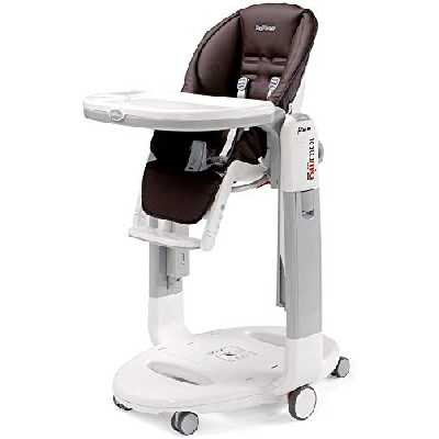 Peg Perego, Chaise haute Tatamia Follow Me, dossier inclinable, transat et chaise haute ultra compacts, Cacao