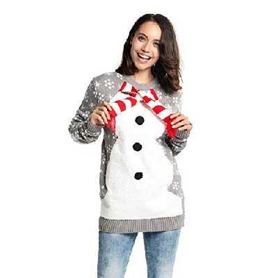 U LOOK UGLY TODAY Pull de Noël Laid pour Les Hommes, Festif pour Une Fête de Noël,Fluffy Festive Feels,M