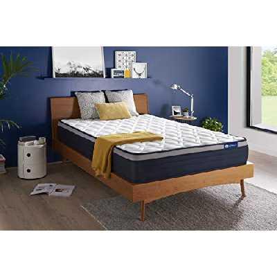Matelas Actiflex Max 160 x 200 cm Ressorts ensachés et mémoire de Forme - Epaisseur : 26 cm - Confort : Ferme - 7 Zones de Confort