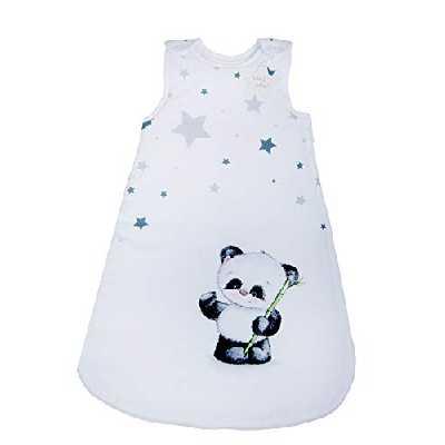 Herding Gigoteuse Baby Best, Panda, 70 cm, Fermeture Éclair Circulaire et Boutons Pressions, Blanc