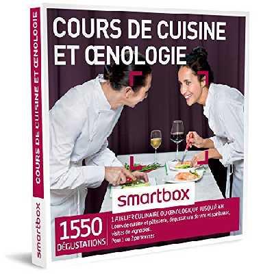 SMARTBOX - Coffret Cadeau homme femme couple - Cours de cuisine et œnologie - idée cadeau - 1550 dégustations : 1 atelier culinaire ou œnologique jusqu'à 4h