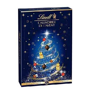 Lindt - Calendrier de l'Avent - Chocolats au Lait, Blanc & Noir - Fins & Irrésistibles - 221g