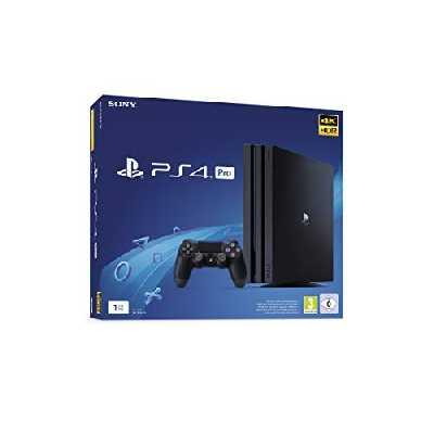Sony PlayStation 4 Pro 1 To, Avec 1 Manette Sans Fil Dualshock 4 V2, Châssis G, Noir (Jet Black)
