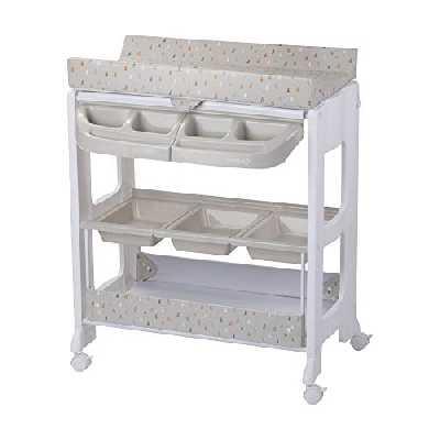 Safety 1st, Dolphy Table à langer et Baignoire 2en 1 pour bébé, De la naissance à 12 mois (jusqu'à 11kg), Warm Grey