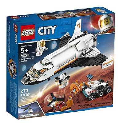 LEGO 60226 City La Navette Spatiale, Jouet de Construction de vaisseaux spatiaux pour Enfants inspirés de la NASA avec Rover et Drone