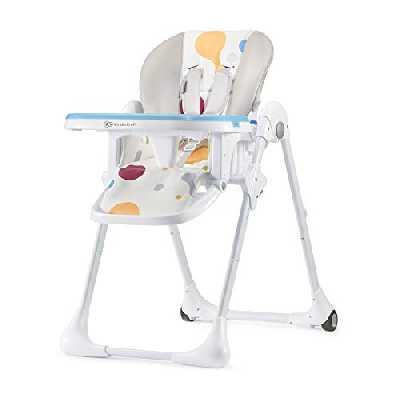 Kinderkraft Chaise Haute Enfant YUMMY Pliable, Dossier et Tablettes Réglables, Multicolore