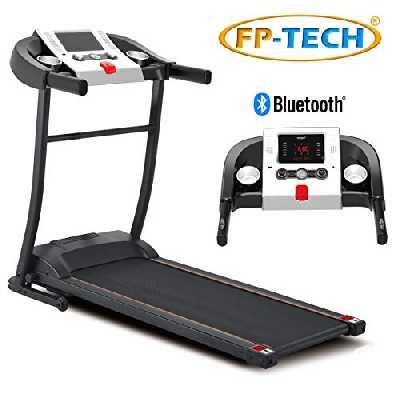 FP-Tech - Tapis roulant électrique 1 HP 1000 W, haut de gamme avec Bluetooth, application, lecteur MP3 et USB