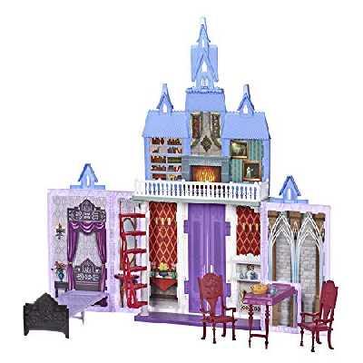 Disney La Reine des Neiges 2, Chateau d'Arendelle des poupees Elsa et Anna, Maison de poupée de 2 etages