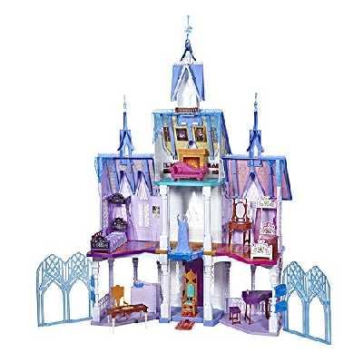 Disney La Reine des Neiges 2, L'Extraordinaire Chateau d'Arendelle des poupees Elsa et Anna, Maison de poupée de 1m50 de haut, 4 etages