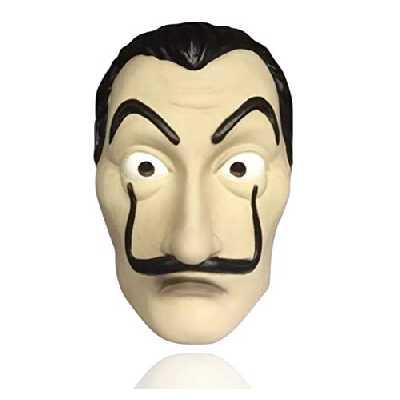 1x masque Salvador Dali Costume de masque - House of Money Déguisement casa del papel Bella Ciao House connu de House of Money - Mardi Gras, Carnaval, Halloween